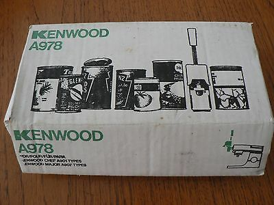 kenwood can opener instructions