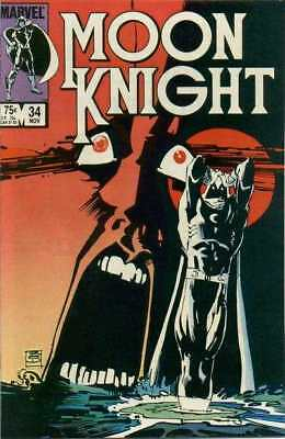 Moon Knight (1980 series) #34 in Very Fine + condition. FREE bag/board