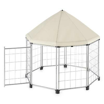Pet Canopy Tent Outdoor Garden Excercise Training Dog Cat Small Animal Beige