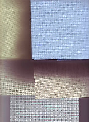 NEW! Pieces of 18 Count Aida Cross Stitch Fabric Choose Colour and Size