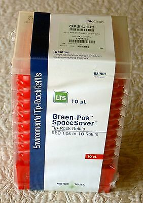 RAININ 10μL Presterilized LTS SpaceSaver Refills Pipette Tips GPS-L10S (960/Pk)