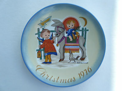 Schmid Christmas Plate Sacred Journey By Sister Berta Hummel 1976 Limited Ed.