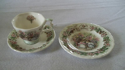 C Royal Doulton Brambly Hedge Miniature Tea Set Cup Saucer Plate Summer