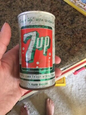 Vintage 7up can Steel Can Fresh Up