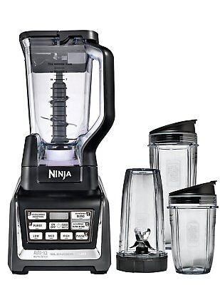 Nutri Ninja 1500W Blender Duo with Auto iQ BL642UK [inc 2.1L Pitcher & 3 x Cups]