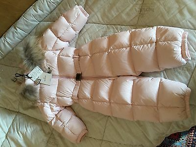 Moncler Padded Snowsuit Child Baby Girl,tutone,rosa-Pink,tg. 2 Anni/years