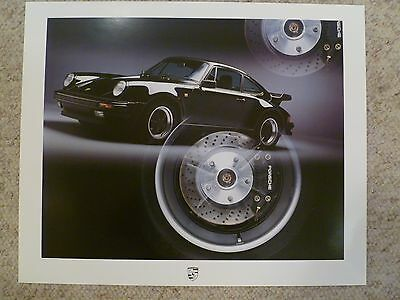 1986 Porsche Carrera Coupe Showroom Advertising Sales Poster RARE! Awesome 23x19