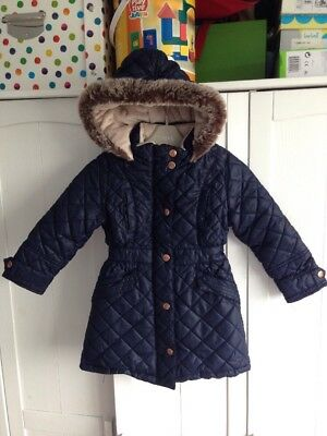 Girl's Ted Baker Age 3-4 years Navy Blue Quilted Coat Great For School