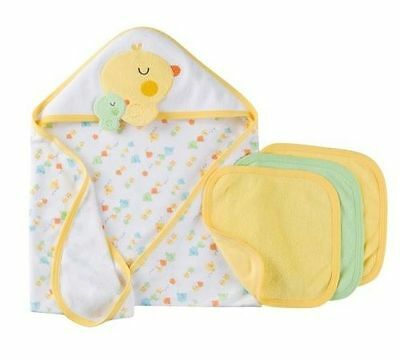 NEW Gerber 4-Piece Yellow Chicks Towel/Washcloths Bath Set BABY CLOTHES GIFT