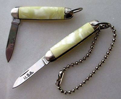 Richards American Fob Knives, Pair of Vintage U.S.A. Single Blade