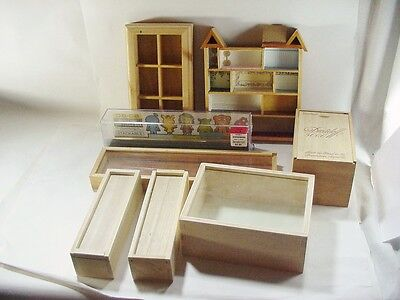 8 Keepsake / Display / Shadow Boxes for Miniature Dolls and Others -- Most Wood