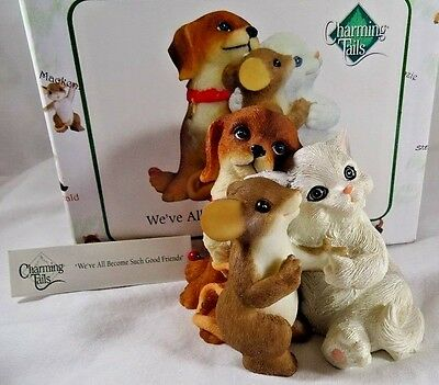 Charming Tails Figurine We've All Become Such Good Friends NIB