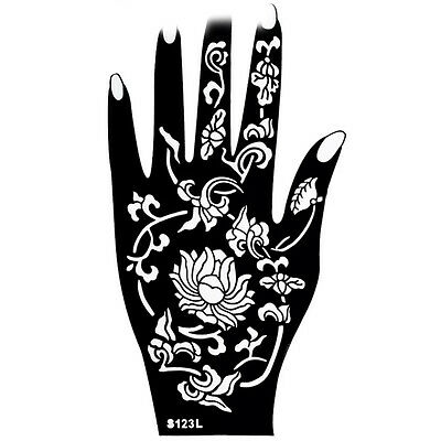 Henna Patterns on Hands Mehndi Henna Stencils Easy Design Sheets Kit Templates