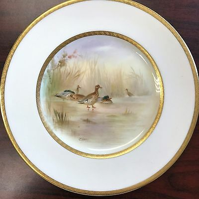 Royal Doulton Signed Duck Scene Plate by C.Hart 1880-1927