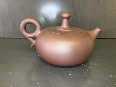 VINTAGE CHINESE YIXING CLAY TEAPOT Signed