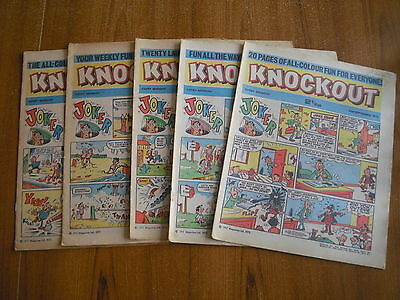 5 x KNOCKOUT COMICS FROM SEPTEMBER 1972