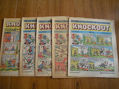 5 x KNOCKOUT COMICS FROM DECEMBER 1972