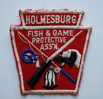 old felt ottawa fish and game association patch cad 7