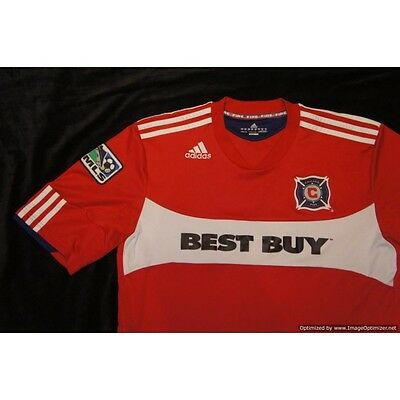 Chicago Fire ADIDAS 2010-2011 Home Football Shirt LARGE L