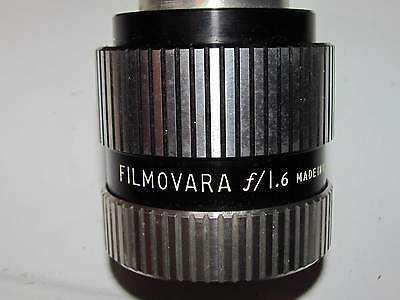 Vintage BELL & HOWELL FILMOVARA F/1.6  LENS FOR  385 / 399 16MM PROJECTOR