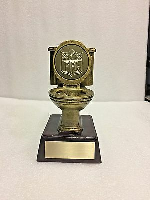 Fantasy Football Toilet Bowl Last Place Resin Trophy With Engraved Ffl Logo