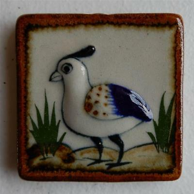 Bird on the Ground Mexican Wall Hanging Ceramic Tile, Tonala Art