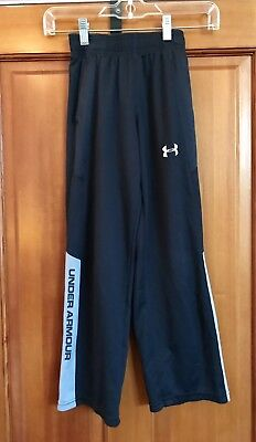 Youth Boys Small YSM  - Under Armour Athletic Warm Up Pants Black GUC