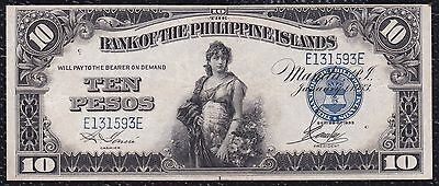 10 Pesos from Philippines 1933 Xf+