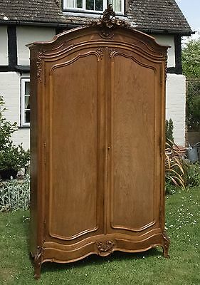 Vintage French Armoire Louis XV style c.1920 walnut finish