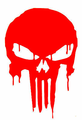 PUNISHER BLOODY SKULL Decal  Sticker  BUY 2  GET 2  FREE Automatically