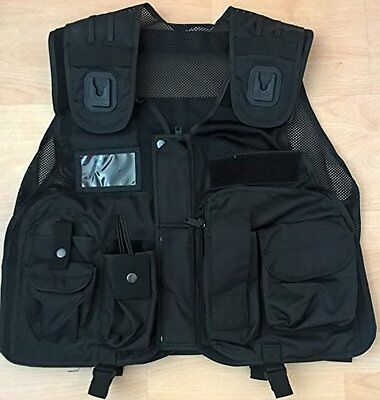 Black Tactical Utility Patrol Vest for Security Officers, Enforcement Officers,