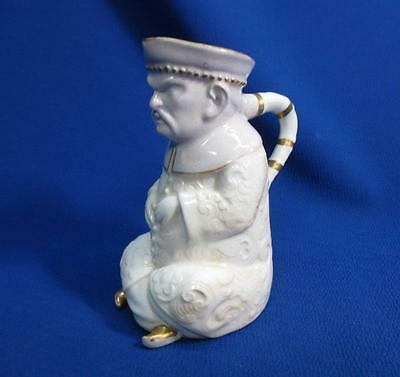 Early Copeland England Seated Chinese Mandarin Figural Pitcher Circa 1870