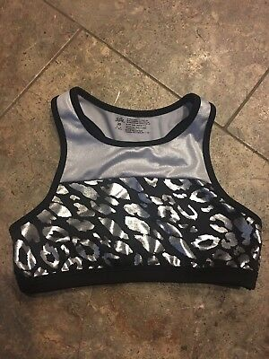 Justice Black/silver Active (dance) Top Size 30