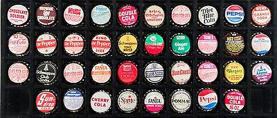 38 Plastic Lined Soda Bottle Caps Crown P/l Coke Pepsi Canada Dry Mountain Dew++