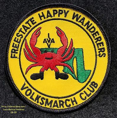 LMH Patch  VOLKSSPORT Walking IVV AVA Volksmarch  Crab FREESTATE HAPPY WANDERERS