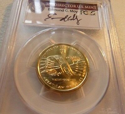 2010 Sacagawea Native American  Missing Edge Lettering  Pcgs Ms66 Moy Signed