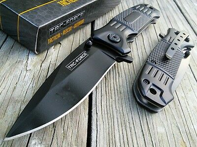"7.75"" TAC FORCE SPRING ASSISTED TACTICAL EDC FOLDING POCKET KNIFE Open Assist"