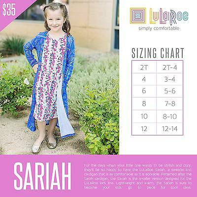 LuLaRoe Sariah Kids Cardigan Size 4 NWT - PREORDER - MYSTERY SWEATER - NEW STYLE