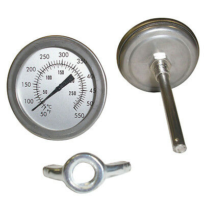 Stainless Steel BBQ Grill Oven Dial Thermometer Gauge Temperature Useful Tools