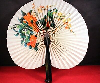 "Awesome 10"" Chinese Asian Floral Folding Hand Fan"