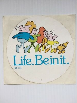LIFE BE IN IT  vintage 1990s Advertising Sticker