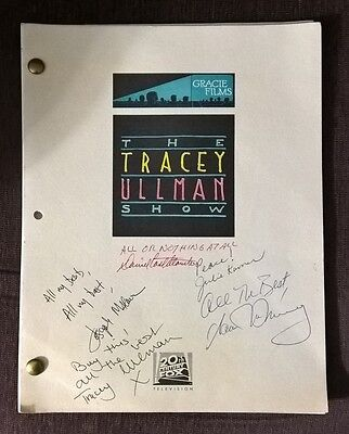 The Tracey Ullman Show MULTI SIGNED Pilot Episode Script, 1987, NICE!