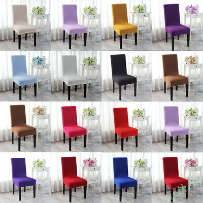 13 Color Stretch Super Fit Dining Chair Seat Cover Slipcover Protector Removable