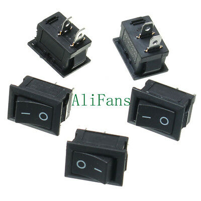 5PCS KCD1-101 2Pin ON OFF Toggle SPST Switch 125V 6A