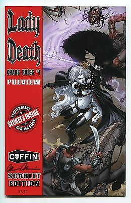 Lady Death Chaos Rules #1 Preview SCARLET Variant Cover by Dheeraj Verma /75