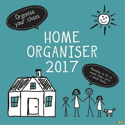 Home Organiser - 2017 Wall Calendar 16 Months by Gifted Stationery