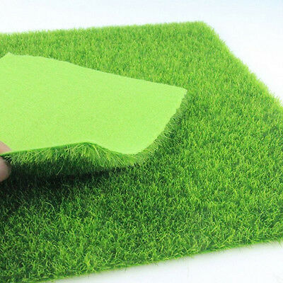 1X Artificial Grass Fake Lawn Simulation Miniature Garden Ornament Decor