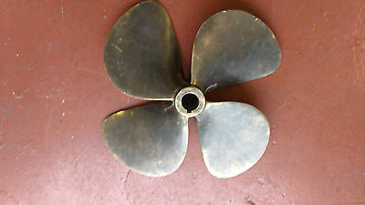 Bronze Brass Four 4 Blade Boat Propeller. Rh.