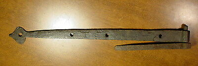 Strap Hinge & Pintle Hand Forged Antique Iron Primitive Old Hardware Barn Door A