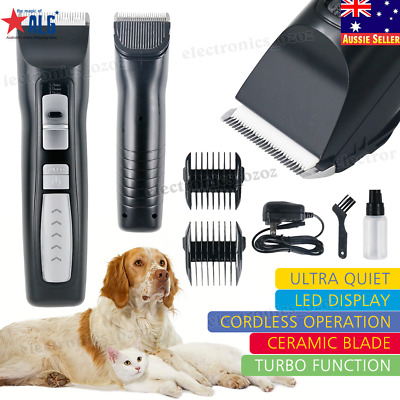 Professional 2-Speed Pet Dog Cat Grooming Clippers Rechargeable Cordless Trimmer